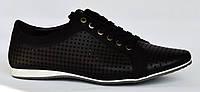 Качество! Летние мужские черные кроссовки. Размеры 42, 43. Forra 14L458.
