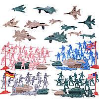 Набор игровых фигурок солдатиков и военной техники Армия, 148 шт.