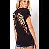 Футболка крилья, женская футболка,