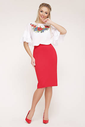 GLEM Маки блуза Мирабель-П к/р, фото 2