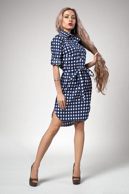 2194bda0bcb Купить Летнее платье рубашка с удлиненной спинкой 689928353 - Грация ...