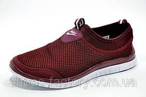 Кроссовки женские в стиле Nike Free Run 3.0, Бордо, фото 2