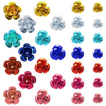 Троянди 3D Алюмінієві для Біжутерії. Коди 6223 - 6226