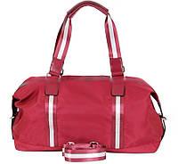 Женская дорожная сумка красного цвета