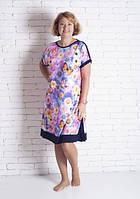Летнее платье-туника большого размера