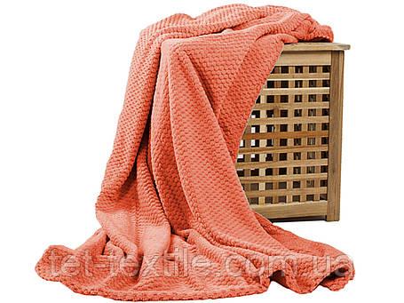Плед из бамбукового волокна Koloco коралловый (150х200), фото 2