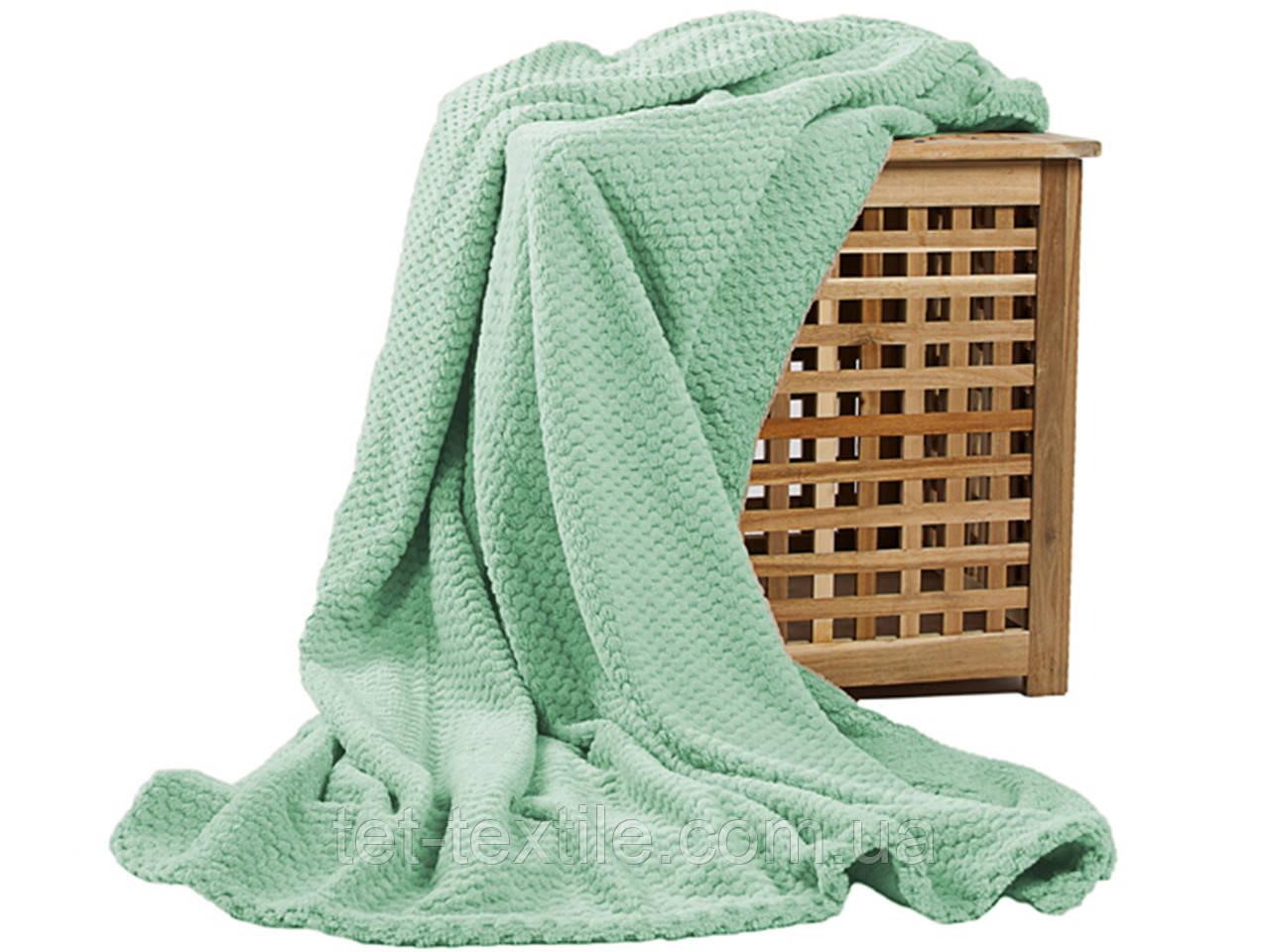 Плед из бамбукового волокна Koloco мятный (150х200)