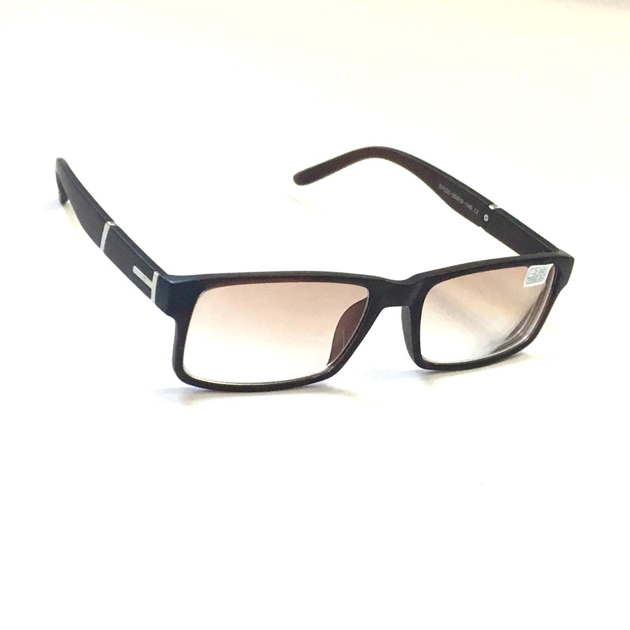 Мужские очки с коричневой тонированной линзой