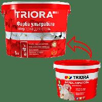 Краска TRIORA акриловая ультрабелая 3 л