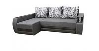 Угловой диван Garnitur.plus Граф серо-черный 245 см