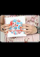 "Кулинарная книга ""I ♥ Cookbook"" + комплект наклеек"