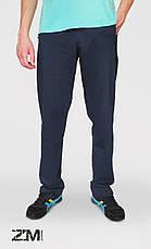 Мужские трикотажные спортивные штаны синие SPORT, фото 2
