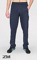 Мужские трикотажные спортивные штаны синие ZOMAK