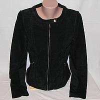 Замшевая женская деми куртка Oodji черная р.46 рост 170-92-94