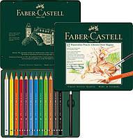 Карандаши акварельные Faber-Castell Albrecht Dürer MAGNUS 12 цветов в металлической коробке, 116912
