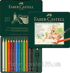 Карандаши акварельные утолщенные Faber-Castell Albrecht Dürer MAGNUS 12 цветов в металлической коробке, 116912