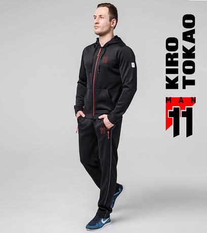 Весенний мужской спортивный костюм Киро Токао 475 черный-красный