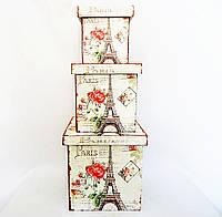 Шкатулка набор из 3-х – Париж стиле Шебби шик