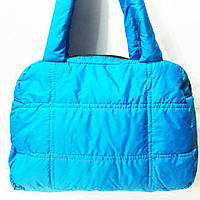 Дутые сумки под пуховик (голубой без накатки)25*37