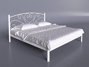 Двоспальне ліжко Карісса Tenero біла з узголів'ям на невисоких ніжках металева