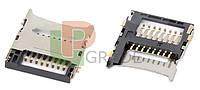 Разъем Sim-карты для Fly iQ230/iQ235/iQ237/iQ245/iQ245+/iQ270/iQ430/iQ445/iQ4490/DS104/DS107/DS120/DS123/DS124/TS107/TS111