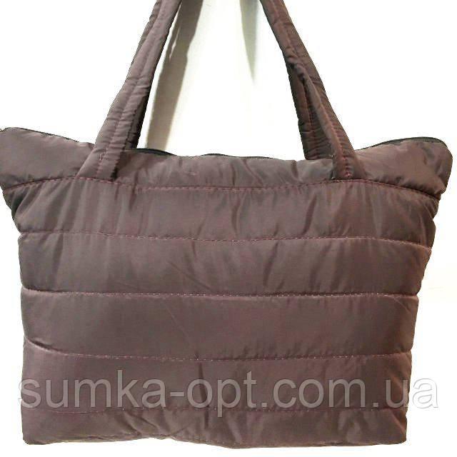 Дутые сумки под пуховик (каштан)32*34