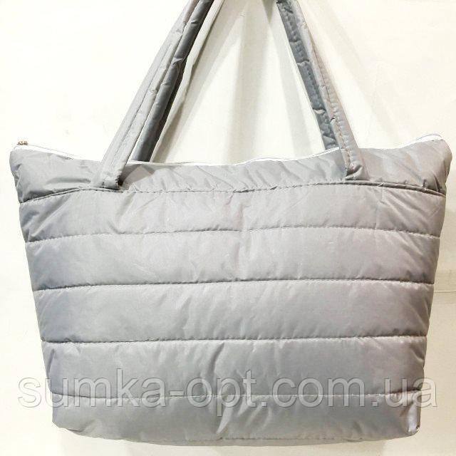 Дутые сумки под пуховик (серый)32*34
