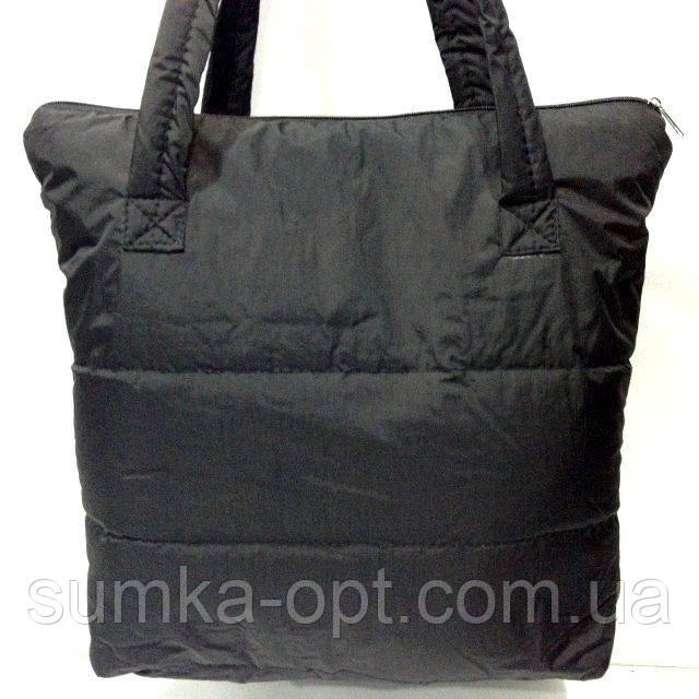 Дутые сумки под пуховик (черный без накатки)32*36