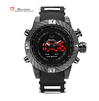 Мужские наручные led часы Shark Goblin 2 черные, фото 1