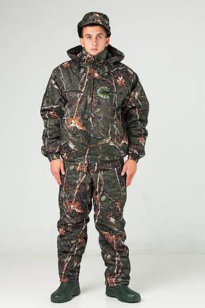 Костюм камуфляжный зимний для охоты и рыбалки Темный лес, фото 2