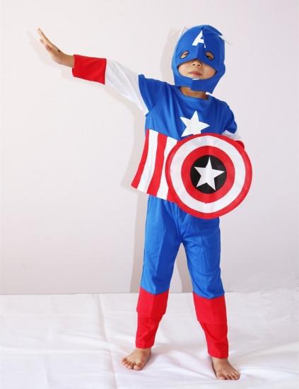 Маскарадный костюм Капитан Америка со щитом (размер L)