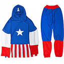 Маскарадный костюм Капитан Америка со щитом (размер L), фото 2
