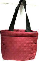 Женские стеганные сумки дешево опт (бордо)27*38