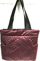 Женские стеганные сумки дешево опт (каштан)27*38