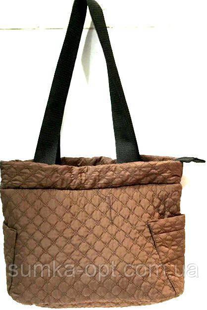 Женские стеганные сумки дешево опт (коричневый)27*38