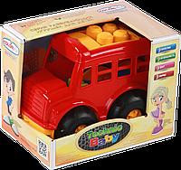 """Автобус 0114 """"Бусик"""" №4: автобус, лопатка и грабельки (ЛГ3)"""
