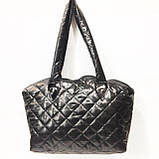 Стеганные сумки оптом Ferrari (черн глянцевый)30*45, фото 2