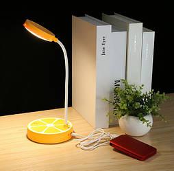 Лампа настольная светодиодная аккумуляторная LED желтый