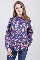 Стильная женская рубашка в яркий принт