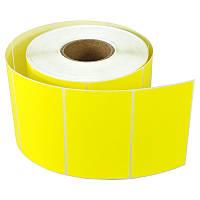 Термоэтикетка самоклеящаяся 58х40 мм, термо ЭКО (1000шт) желтая