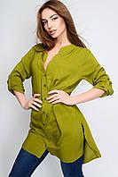Женская удлиненная рубашка с разрезами, в расцветках
