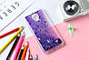 Чехол Бампер Glitter Жидкий блеск для Meizu M3 / M3s / M3 mini с блестками фиолетовый