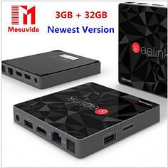 Beelink GT1 Ultimate 3/32Gb ТВ бокс, Смарт-ТВ, медиаплеер 8 ядер 2 ГГц процессор s912 память DDR4