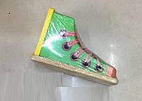 Деревянная игрушка шнуровка GM1710186 ботинок