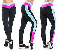 Спортивные лосины SW средняя посадка (42-44; 44-46; 46-48) (розовый) леггинсы для спорта и фитнеса из бифлекса