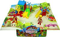 Домик DT8899-7 детская площадка, фигурки,домик,горка, в пакете