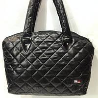 Стеганные сумки оптомTommy Hilfiger (черн глянцевый)30*45