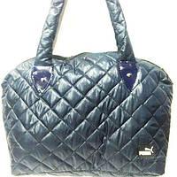 Стеганные сумки оптом Puma (син глянцевый)30*45