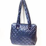 Стеганные сумки оптом Ferrari (син глянцевый)27*45, фото 2