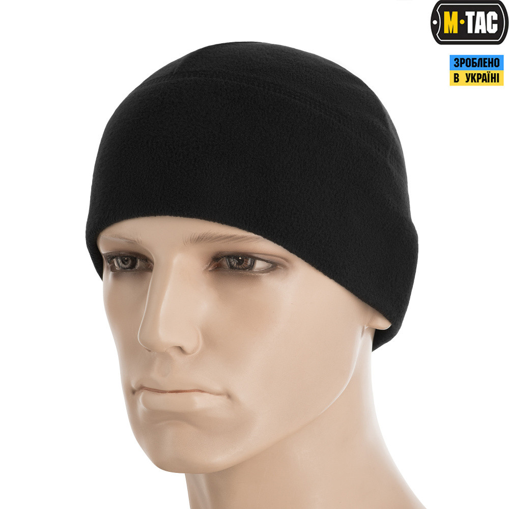 M-Tac шапка Watch Cap Elite флис Windblock 295 Black L